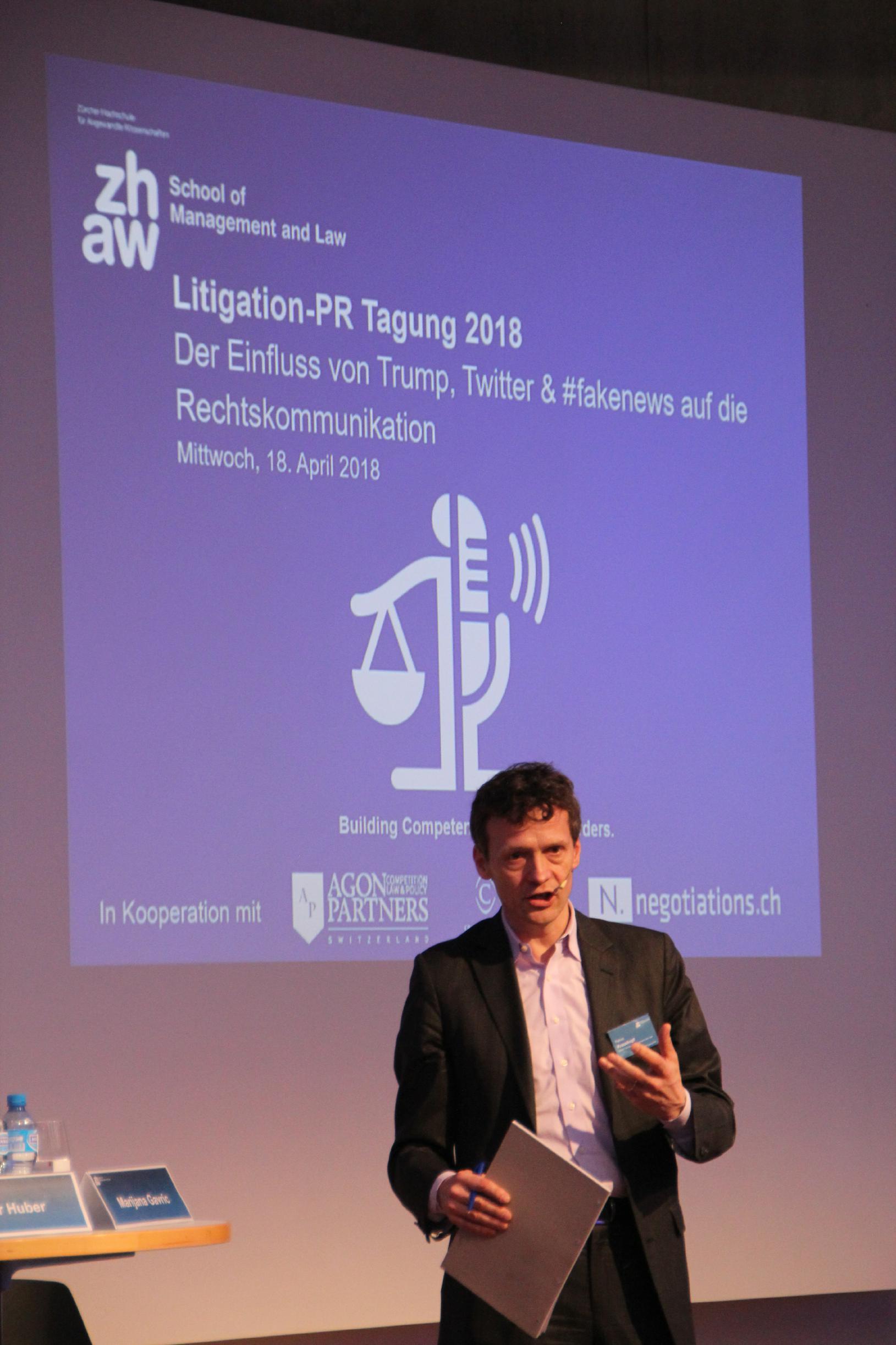 Patrick Krauskopf an der Litigation-PR-Tagung 2018