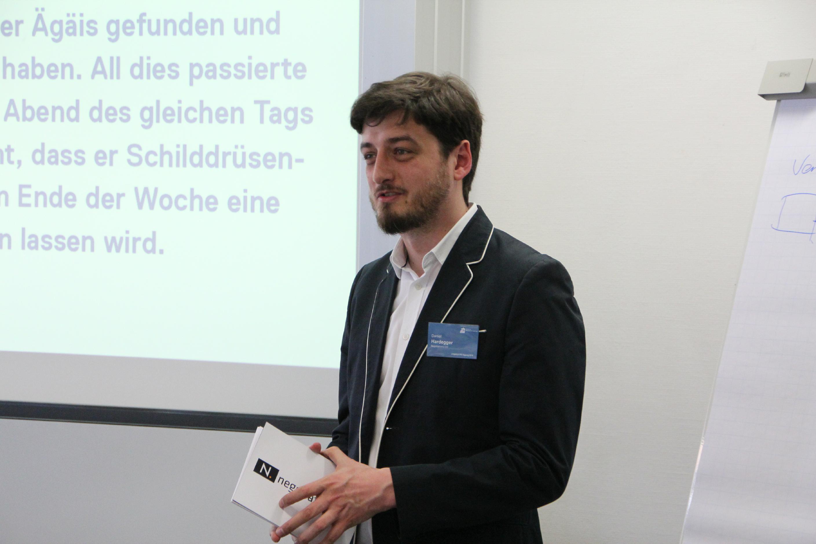 Daniel Hardegger an der Litigation-PR-Tagung 2018